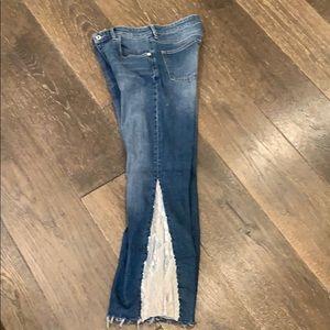 Flare sequins pilcro denim jeans button fly 28
